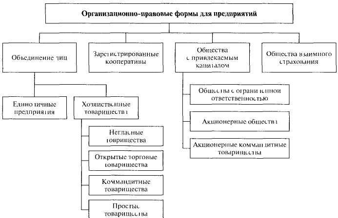 организационно правовые формы предприятия курсовой страховая компания